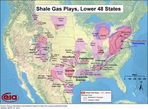 břidlicový plyn v USA